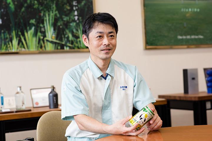 「いいちこ下町のハイボール」開発担当の松本さん