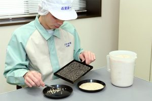 二条大麦の品質検査